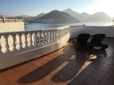 Photo for San José: The sea of ​​Cabo de Gata at your feet. Magnificent terrace.