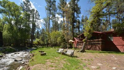 """Photo for Upper Canyon Lodging Co - """"Snowy River""""-Comfy Cabin on the River in Upper Canyon"""
