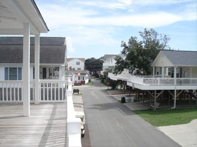 Great area....wide street and straight down the street is the ocean!