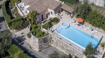 Photo for Enjoy Quiet, Mediterranean Seaview From Your Villa + Airco & Heated Swimming Pool