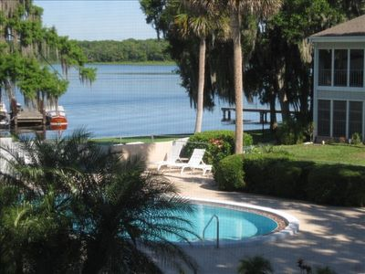 Pool area and boat dock