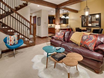 Photo for Ski in, ski out townhome with cheerful decor, concierge and winter shuttle service