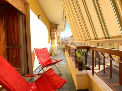Photo for Beautiful and bright apartment on the first floor in the center of the summer life of Gallipoli.