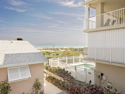 Photo for Appealing 2 br/1 bath - Linger on this private deck overseeing the Atlantic.