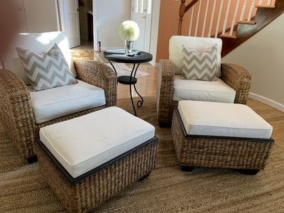Put your feet up and enjoy a book, rest and relax in these luxurious chairs.