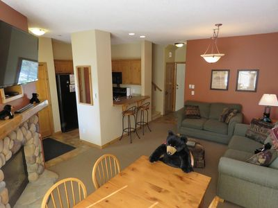 Photo for Multi level 3 bedroom condo with ground level entrance and easy access to nearby lift and ski runs