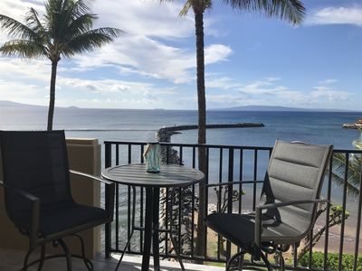 Photo for Maui Perfect Ocean Front View, New Complete Remodel, Split A/C Washer/Dryer