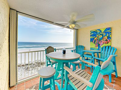 Photo for 5th-Floor Beachfront Castaways 2BR w/ Pool, Gulf Views & Private Beach Access