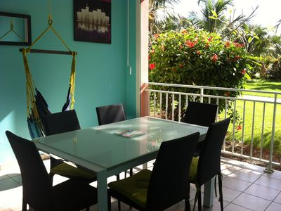 Photo for Superb air-conditioned 2 bedroom apartment on the beach with 2 pools