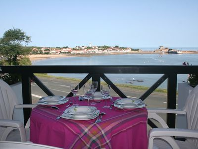 Photo for Apartment with sea view, facing the fort of Socoa and the bay of St Jean de Luz 3 *