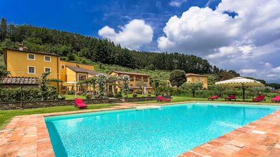 Photo for Casa Del Fattore with floodlit pool, jetted tub, rose covered gazebos & daily maid