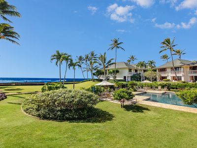 Photo for Poipu Kapili #35: Ocean Views with AC & walk to shops and dining!
