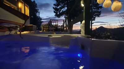Photo for Serenity now!  Hot tub, surrounded w/ mtn views, massage chair, steam shower