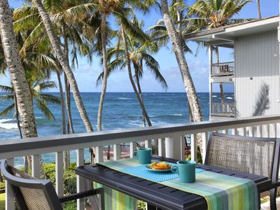 Photo for Poipu Palms #201 - NEWLY RENOVATED with OCEAN FRONT VIEWS!!