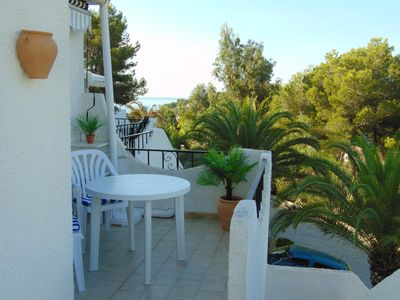 Photo for Villa near Moraira with Shared Pool set in Beautiful Gardens/Lovely Sea Views.