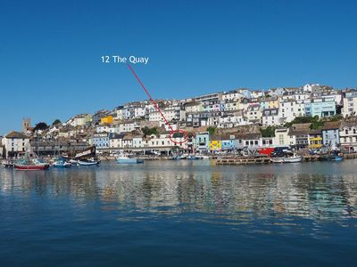 Photo for 12 The Quay - Brixham -  luxury harbour front apartment with panoramic sea views & dedicated parking