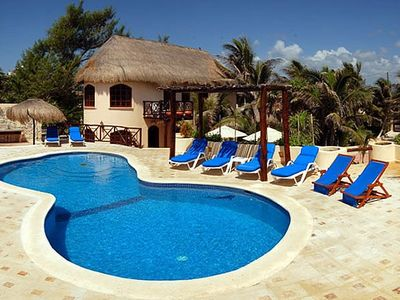 Enjoy this Oceanfront Villa Resort Playground, Main House and Pool Area