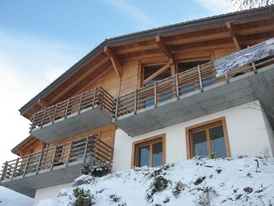 Photo for Luxurious ski chalet. Hot tub, sauna, boot room, boot  sleeps 12!