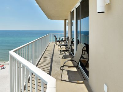 Photo for Gulf-front corner condo w/ sunrise view, pools, hot tubs & beach service!