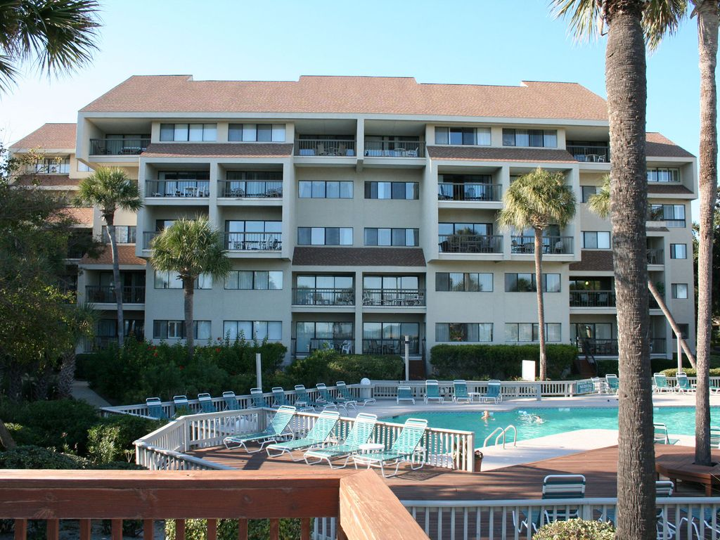 Oceanfront 3 Bedroom End Unit Villa With Spacious Balcony Newly Renovated Palmetto Dunes