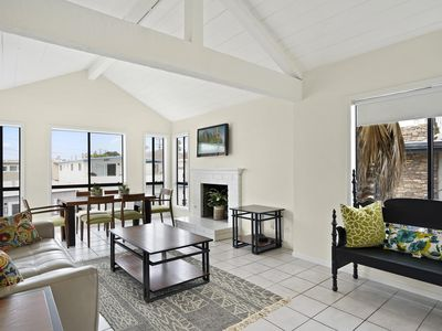Photo for Newly Listed Upstairs Family Beach House - 1/2 Block to Beach! Ocean View!