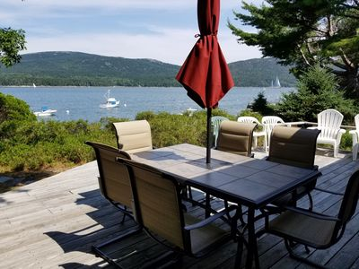 Photo for Oceanfront Cottage with incredible views of Acadia National Park
