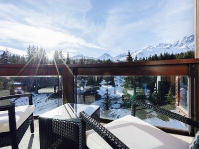 Photo for APPT 55m2, Domaine Jardin Alpin, beautiful view, southern exposure, terrace!