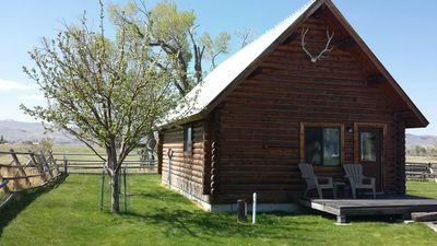Photo for Comfy, Rustic Log Cabin - Montana Experience, peace and quiet, fishing near by.
