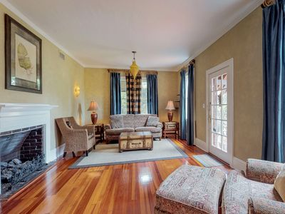 Photo for Classically styled home w/ a full kitchen, furnished patio, & enclosed yard