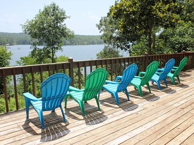 Photo for Large Lakefront Home, Lakefront Access, Theater, Hot Tub, Free Kayaks, Lake View