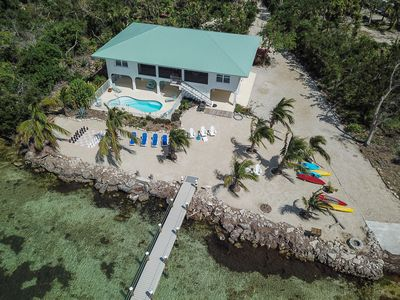 Photo for Gulf-front retreat w/ private heated pool, hot tub, boat ramp & new dock!