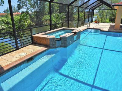 Photo for Cottage on the water with oversized pool & spa !!!