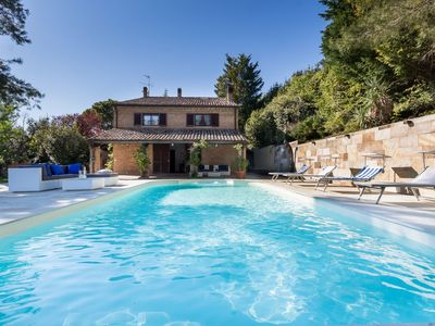 Photo for Villa Marina with pool in the Park of Mount San Bartolo, just 3 km from the beach of Pesaro.