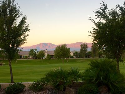Take in purple mountains views from your patio.