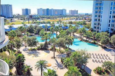 Fantastic Views from Balcony of Palms 1703!