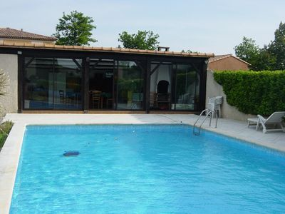 Photo for 4 room villa 9 people private pool - 5 rooms 9 people