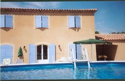 Photo for Villa on the blue side with large above ground pool and large garden