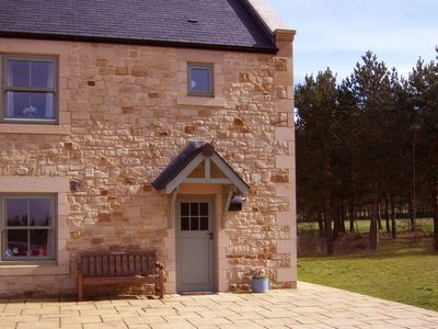 Photo for Lovely Stone Cottage overlooking pretty Burgham Park