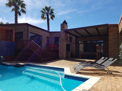 Enjoy the heated swimming pool and BBQ (braai) the South African way