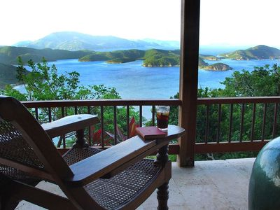 Rum and Coke at Mooncottage. Tropical perfection. St. John, Coral Bay, USVI.