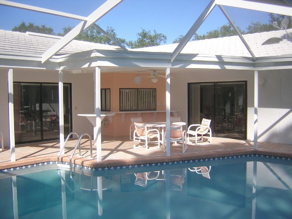 Marine Parkway Vacation Rental Florida Solar Heated Pool