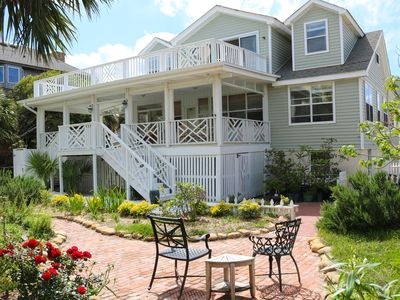 Photo for Original Tybee Cottage with excellent views and steps to the beach! 4 Bdrm