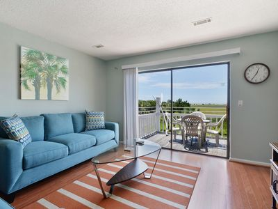 Photo for Newly Furnished Beach Condo With Lovely Marsh Views and Steps to Water