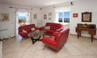 Photo for Villa Lukrecia apartment in Supetar with WiFi, air conditioning, private parking, shared terrace & …