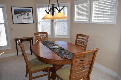 Dining area with seating for four.