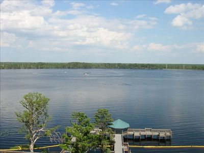Expansive lakeview from balcony