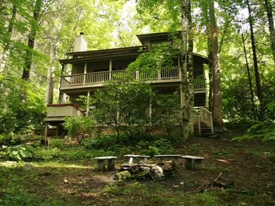 Photo for Dogwood Creek...A charming creekside 3-level home.