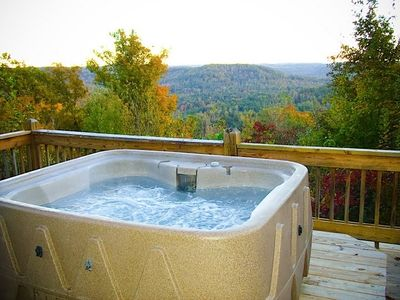 Photo for Private Mountain View with Hot Tub and HUGE Deck