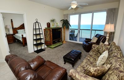 Photo for Free Beach Service 2bed/2bath with a Gulf view.Close to Shopping and Dining