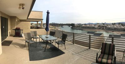 Photo for Book for Summer! Kingsview Condo on the London  Bridge Channel!
